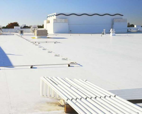Single Ply Membrane (Image Courtesy Of Www.berwaldroofing.com)