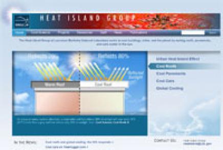 Screen shot of the Heat Island Group web site